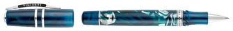 Boutique du stylo - Visconti Roller ball, Homosapiens Crystal Swirls Limited Edition series Translucent blue