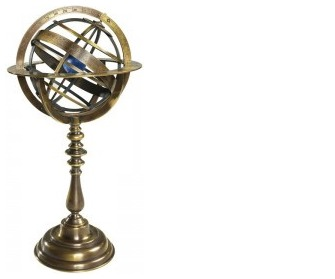 Boutique du stylo - Objet de décoration Authentic Models, série Antique Globes Bronze